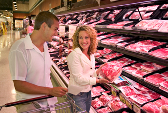 commercial meat cases